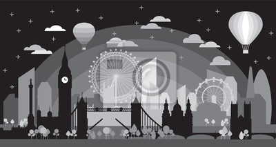 London Skyline silhouette 4