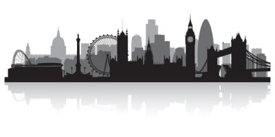 Sticker London Skyline Silhouette