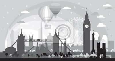 London Skyline silhouette 5