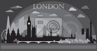 London Skyline silhouette 6