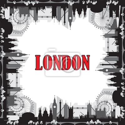 London Skyline silhouette 7