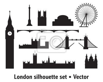 London Skyline silhouette 8