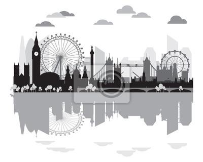 London Skyline silhouette 9