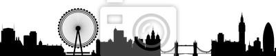 London Skyline Silhouette Detaillierte Vektor Illustration