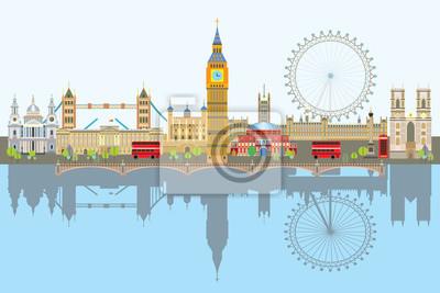 London skyline vector 3