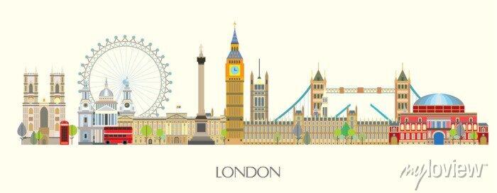 Sticker London skyline vector 7