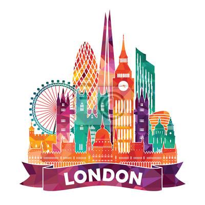 London Skyline Zusammenfassung. Abbildung