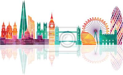 London Skyline Zusammenfassung. Vektor-Illustration