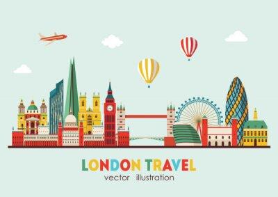 Sticker London Skyline Zusammenfassung. Vektor-Illustration - Stock Vektor