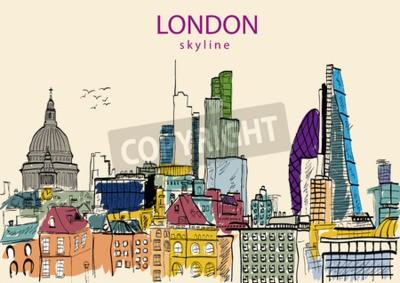 London-Skylineauszug. Vektor-Illustration