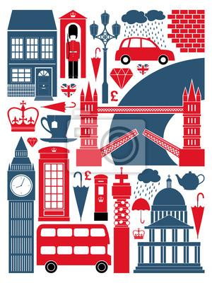 London Symbole und Wahrzeichen