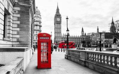 Sticker London Telefonzelle und Big Ben