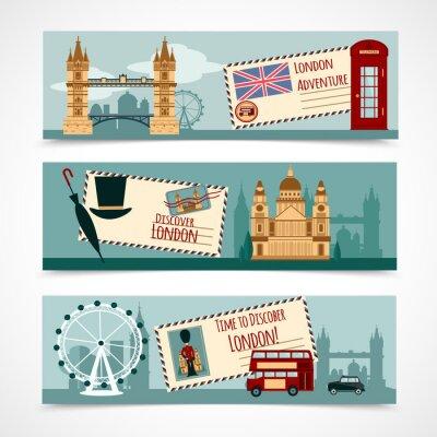 Sticker London Touristische Banner-Set