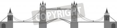 London Tower Bridge Illustration Isolated on White Background