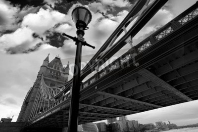 London Tower Bridge in black and white style