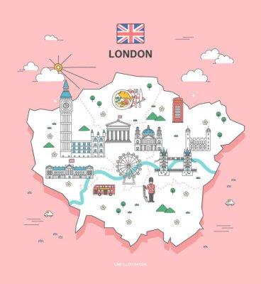 Sticker London Travel Landmark Collection
