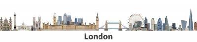 Sticker London-Vektor-Skyline der Stadt