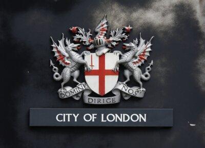 Sticker london Wappen auf einer Wand