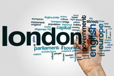 Sticker London Wort Wolke