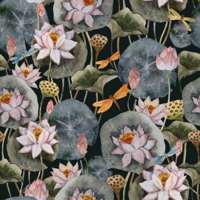 lotus pattern decor