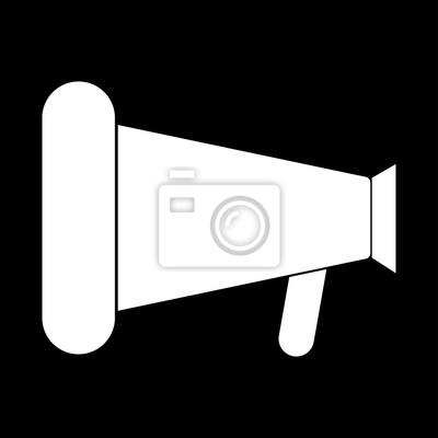 Loud lautsprecher oder megaphon die weiße farbe symbol. notebook ...