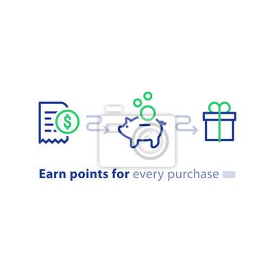 Loyalty Programm Konzept Punkte Verdienen Gewinnen Geschenk