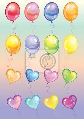 Luftballons gesetzt