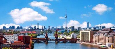 Sticker Luftbild-berlin Skyline