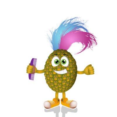 Sticker Lustige Punk Ananas