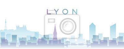 Lyon Transparent Layers Gradient Landmarks Skyline
