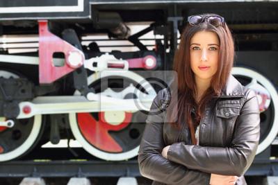 Mädchen und Lokomotive