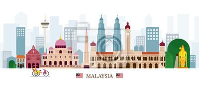 Malaysia Wahrzeichen Skyline