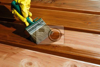 Malerei Douglasie Holz Stapeln Fur Eine Terrasse Notebook Sticker
