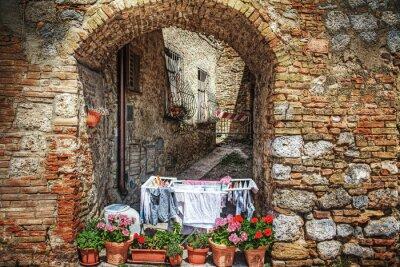 Sticker Malerische Ecke in San Gimignano