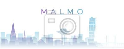 Malmo Transparent Layers Gradient Landmarks Skyline