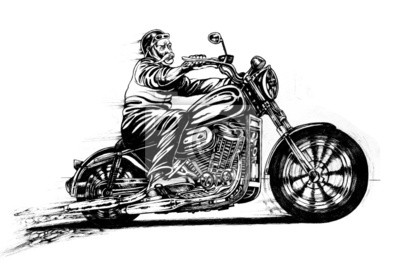 Man Motorradfahren