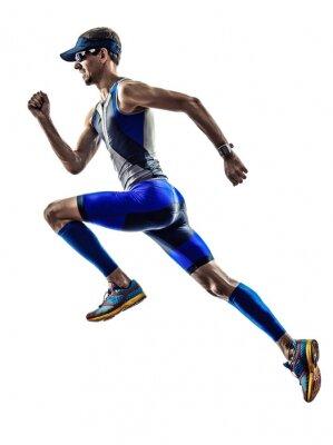 Sticker man triathlon ironman athlete runners running