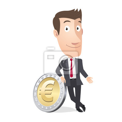 Manager-, Handels-, Stück Euro. Vecteur CMJN