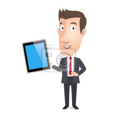 Manager Kader kommerziellen, tablette. Vecteur CMJN
