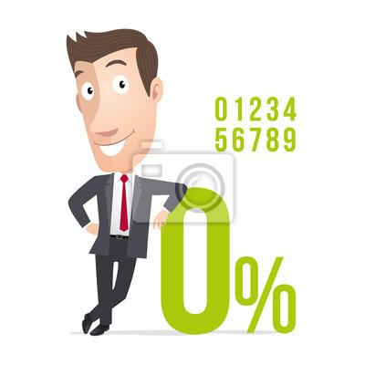 Manager kommerziellen pourcentage taux d'intérêt. Vecteur CMJN