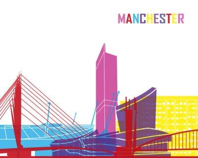 Sticker Manchester Skyline Pop