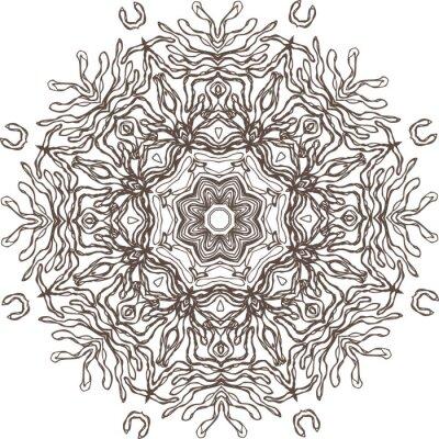 Sticker Mandala ethnischen indischen Illustration Design