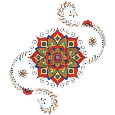 Sticker Mandala Hindu Lotus