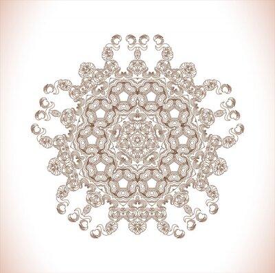 Sticker Mandala Rundes Muster. Zusammenfassung Eleganz Muster. Handgemalt