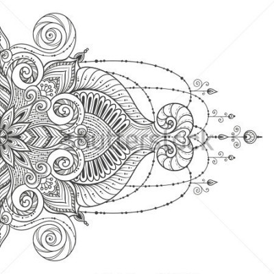 Sticker Mandala Vector tattoo. Perfect card for any other kind of design, birthday and other holiday, kaleidoscope, medallion, yoga, india, arabic. Islam, Arabic, Indian, asian motifs.