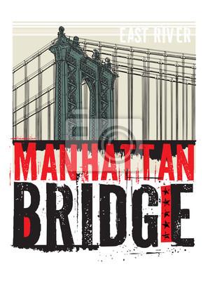 Manhattan-Brücke, New York City, Schattenbild