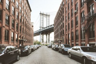 Sticker Manhattan-Brücke von der Washington-Straße, Brooklyn