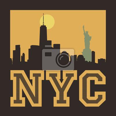 Manhattan, New York City, Schattenbildillustration