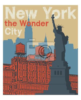 Manhattan, New York city, silhouette