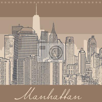Manhattan, silhouette illustration